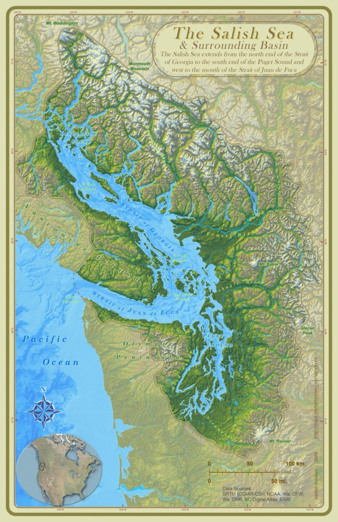 Map of the Salish Sea
