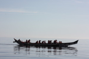 Laas with Others in a Haida canoe