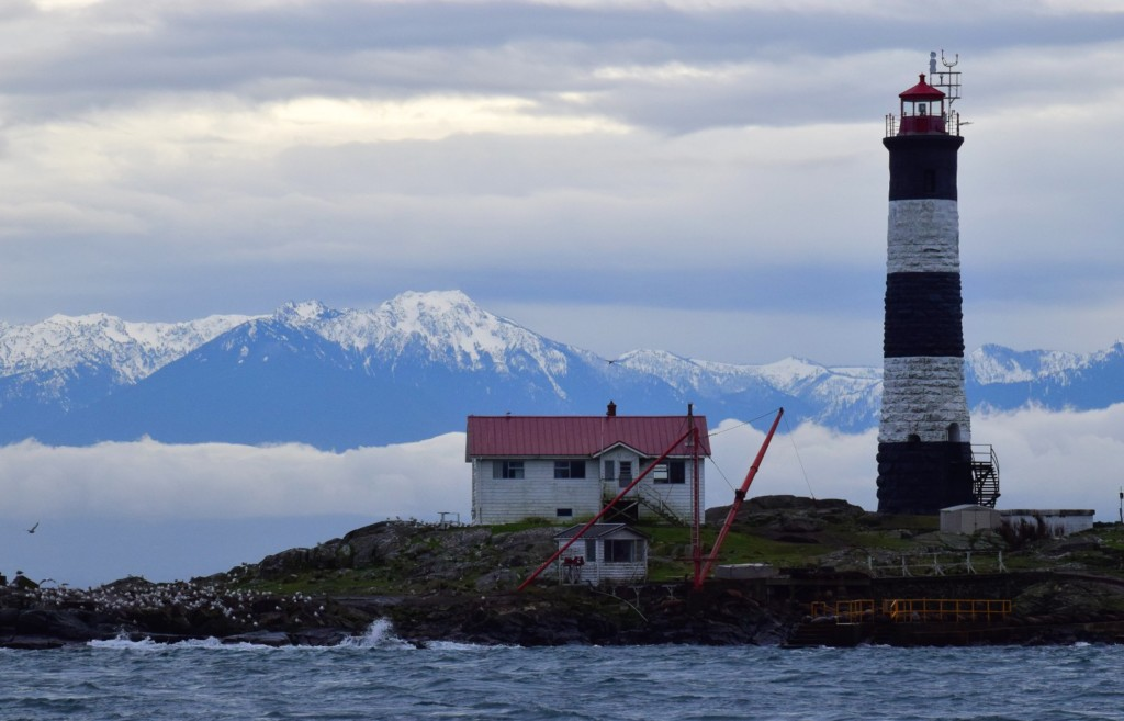 Race Rocks Lighthouse in winter. Picture taken by Captain Ian with a zoom lens.